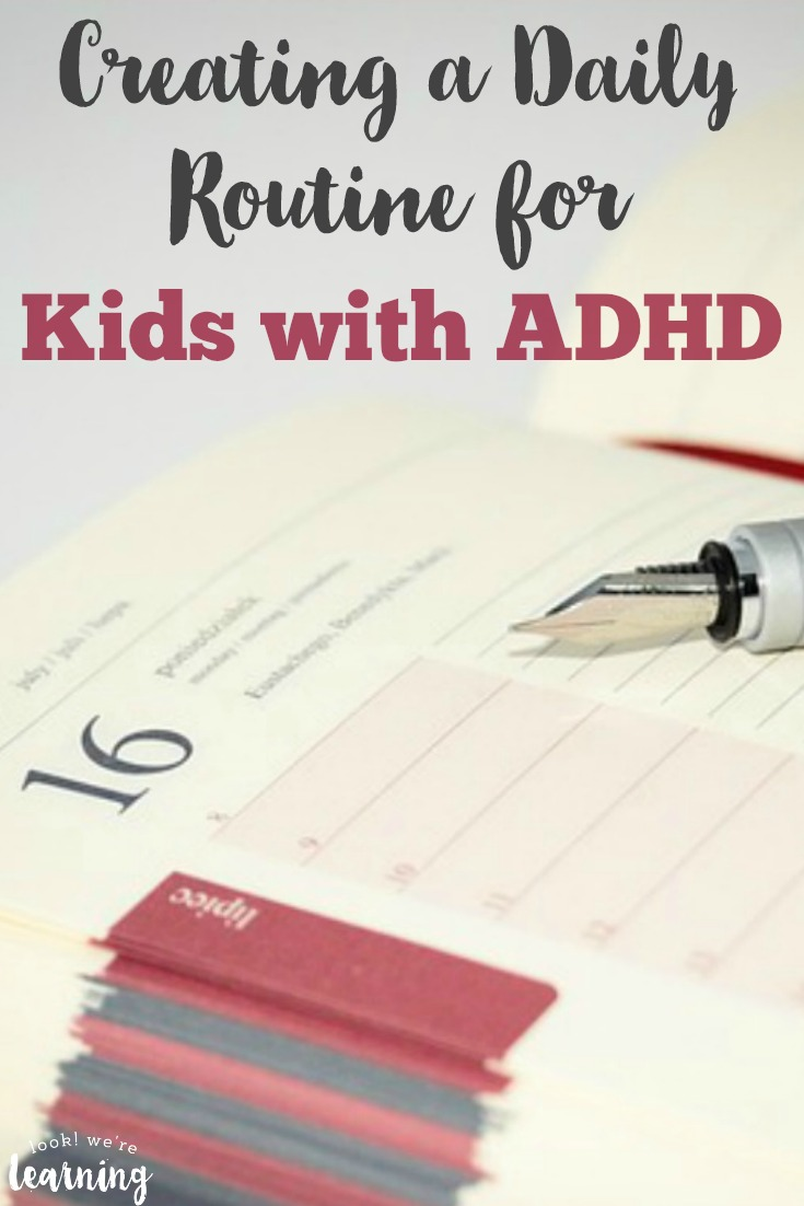 Struggling to get your child with ADHD on a consistent schedule Try these tips for creating an ADHD daily routine for kids!