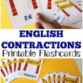Teach kids how to build basic language arts contractions with these printable contractions flashcards!