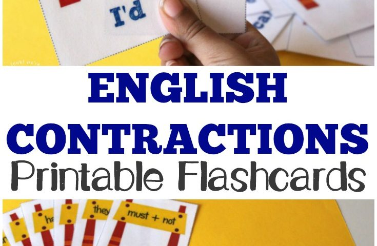 Free Printable Flashcards: Contractions Flashcards