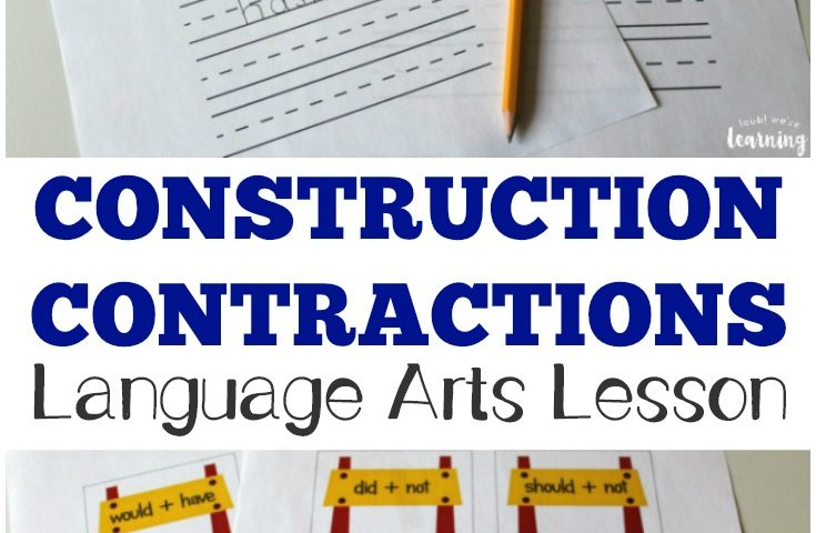 Construction Contractions: Construction Themed Language Arts Contractions Lesson
