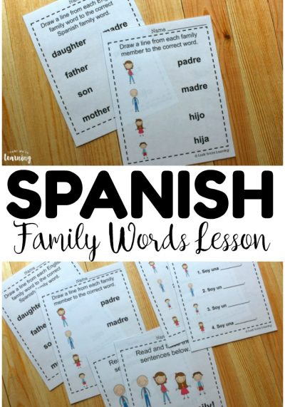 Teach kids how to talk about family in Spanish with this set of printable Spanish family members worksheets! Great for ESL students too!