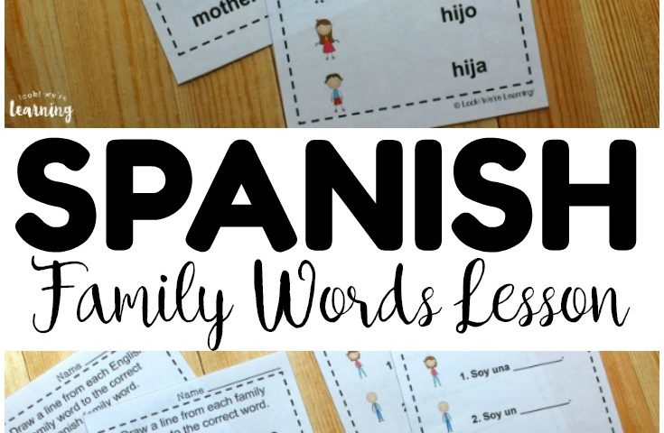 Spanish Worksheets for Kids: Spanish Family Words Worksheets