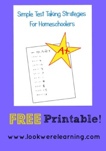 Free Test Taking Strategies Printable - Look! We're Learning!
