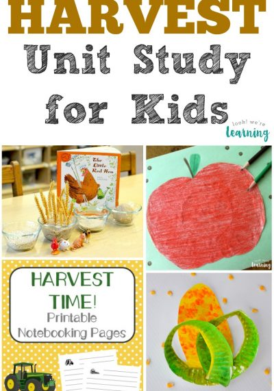 This harvest unit study is a fun way to learn about harvesting during autumn!