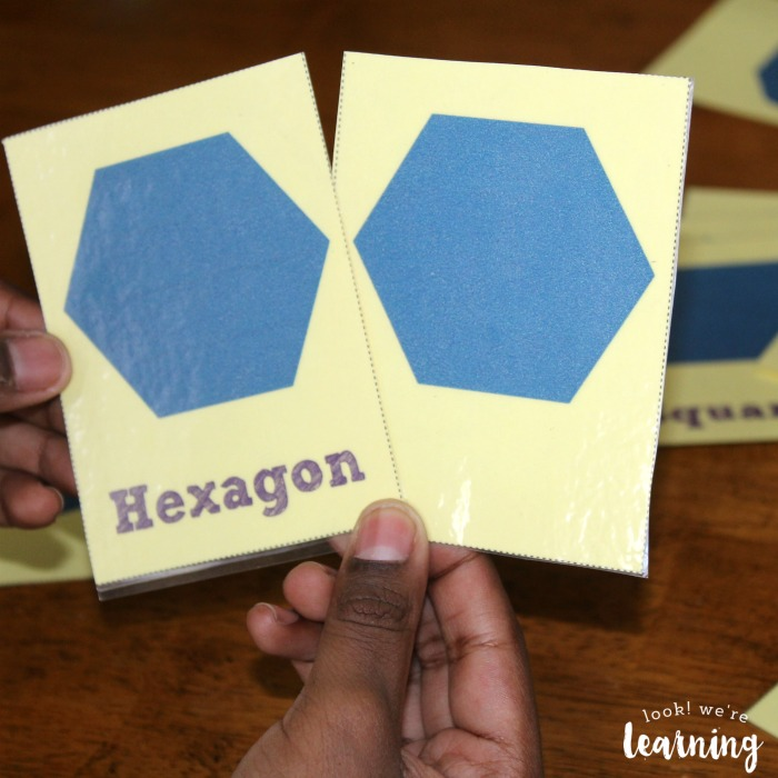 Using Printable Polygon Flashcards