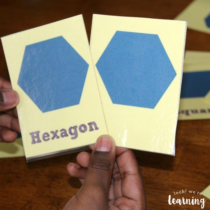 Using Printable Polygon Flashcards