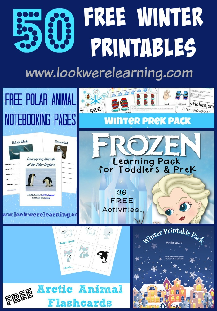50 Free Winter Printables for Kids @ Look! We're Learning!