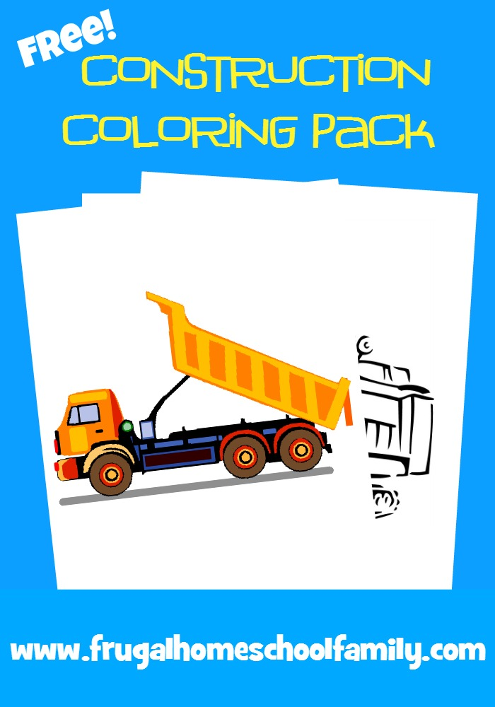 Free Construction Coloring Pages - Look! We're Learning!