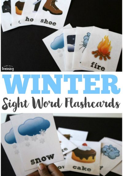 Make early reading fun this winter with these printable winter sight word flashcards for kids!