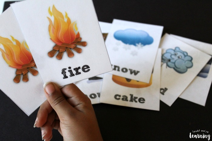 Printable Winter Sight Word Flashcards