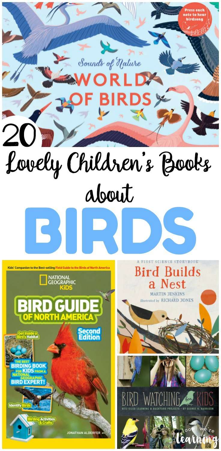 Read about our fine feathered friends with these lovely children's books about birds. There are 20 to choose from that help kids learn more about how birds live and fly!
