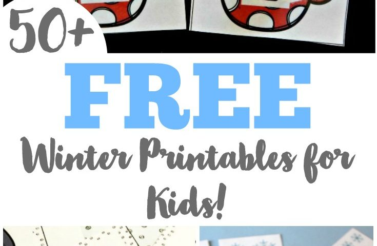 50+ Free Winter Printables for Kids!