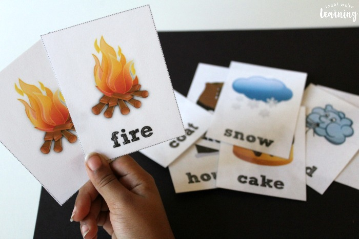 Winter Sight Word Flashcards for Kids