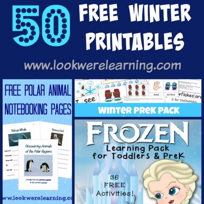 Free Winter Printables for Kids - Look! We're Learning!