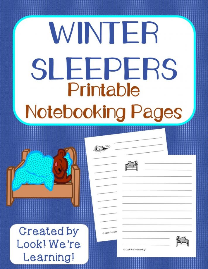 Hibernation Notebooking Pages