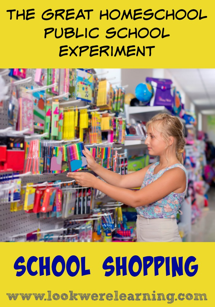 Homeschool Public School Experiment School Shopping on a Budget