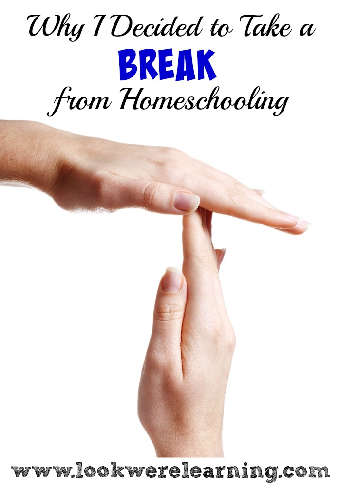 Why I Decided to Take a Homeschooling Break - A veteran homeschooling mom explains why she put her kids in public school, even though she was afraid of feeling like a failure. Very honest post.