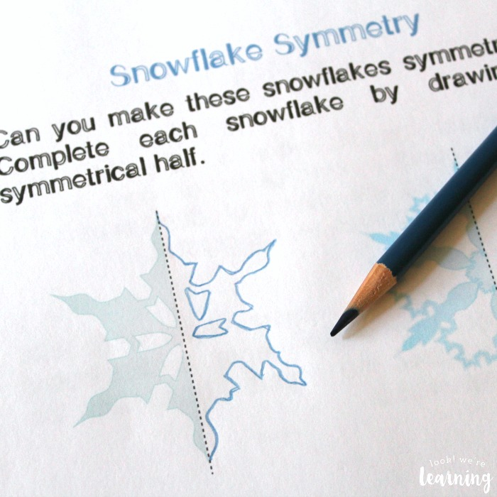 Printable Snowflake Unit Study Symmetry Activity