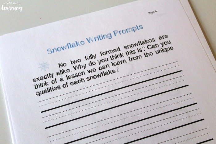 Printable Snowflake Unit Study Writing Prompts