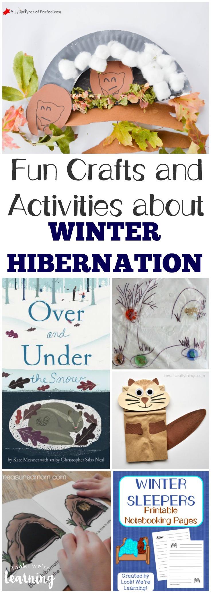 Homeschool unit studies hibernation unit for Hibernation crafts for kids