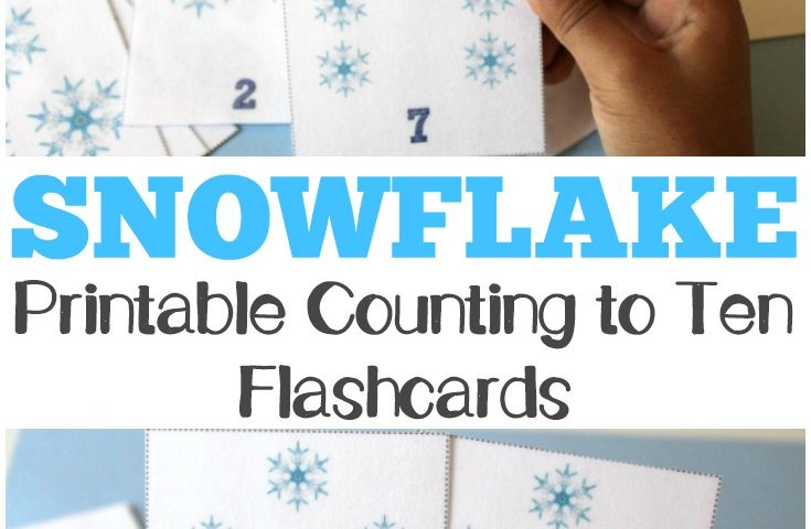 Free Printable Flashcards: Snowflake Counting Flashcards
