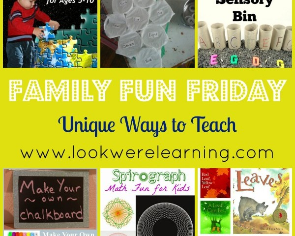 Unique Ways to Teach School Subjects with Family Fun Friday!