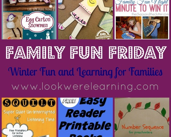 Winter Fun and Learning for Families with Family Fun Friday!