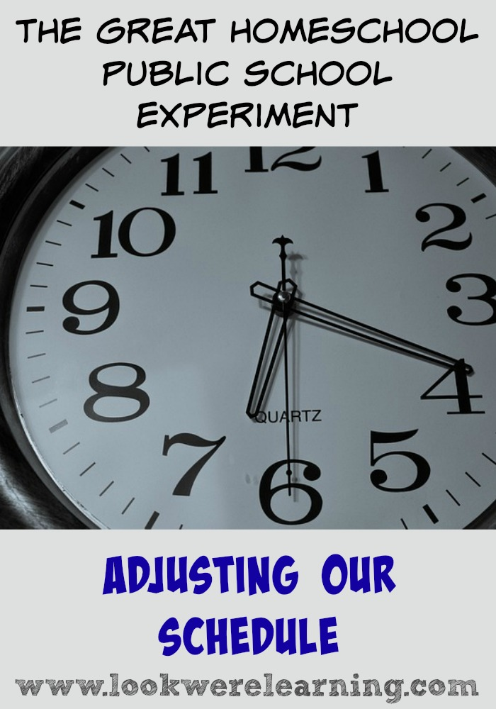 Adjusting Our Schedule - What it's like to transition from a homeschooling schedule to a public school schedule