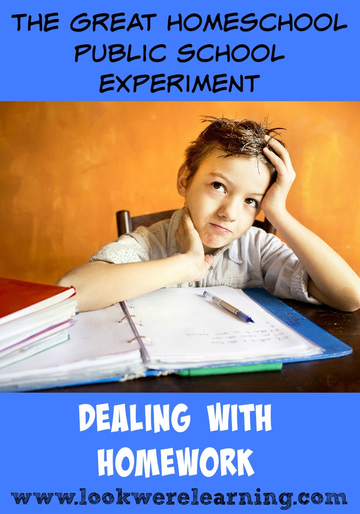 Dealing with Public School Homework - How can homeschoolers adjust to homework in public school?