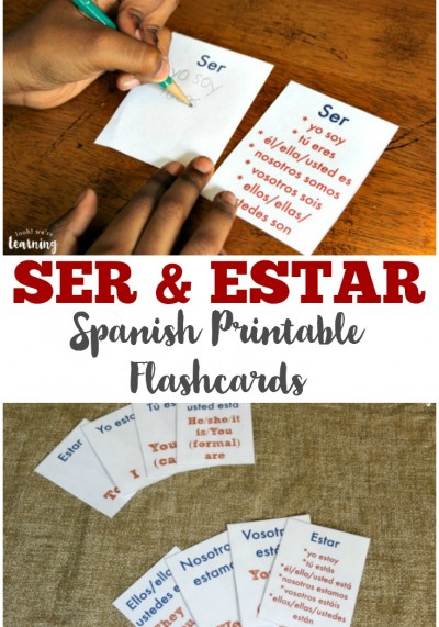 Learn how to use Spanish verbs for to be with these free ser and estar flashcards!