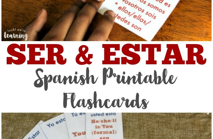 Free Printable Flashcards: Ser and Estar Flashcards