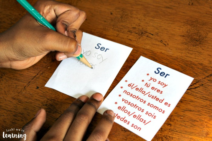 Printable Ser and Estar Flashcards