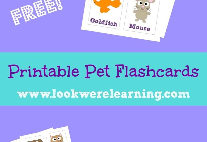 Free Printable Pet Flashcards