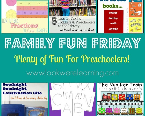 Fun Preschool Activities with Family Fun Friday!