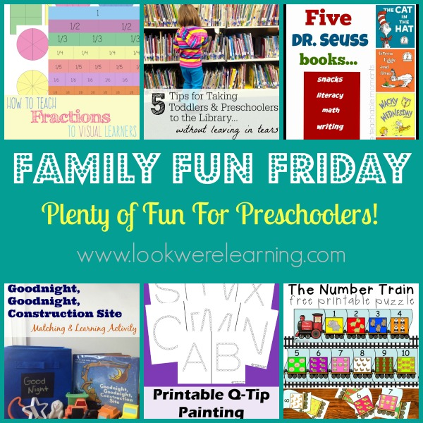 Fun Preschool Activities With Family Fun Friday