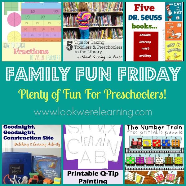 Fun Preschool Activities with Family Fun Friday!
