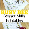 Grab these fun busy bee scissor skills printables to help little ones practice using scissors!