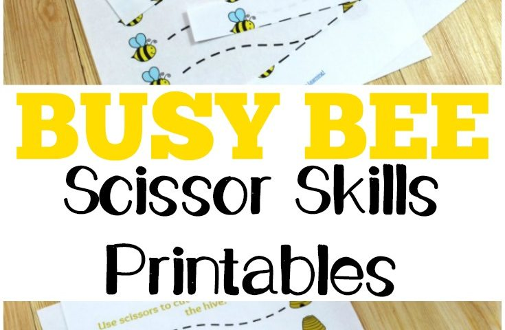 Spring Worksheets for Kids: Busy Bee Scissor Skills Worksheets
