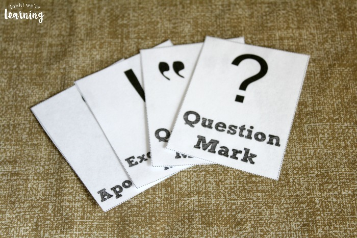 Printable Punctuation Marks Flashcards