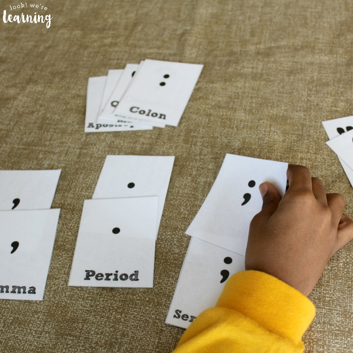 Punctuation Flashcard Matching Activity