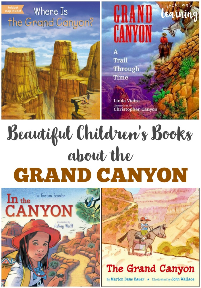 These Grand Canyon books for kids provide a beautiful look at this natural wonder!