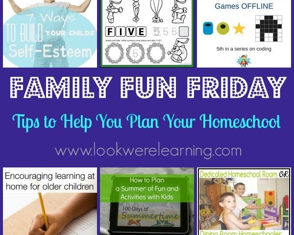 Tips for Homeschool Planning with Family Fun Friday!