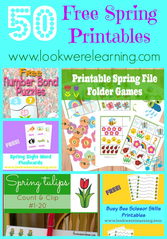 50 Free Spring Printables for Kids @ Look! We're Learning!