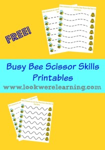 Busy Bee Scissor Skill Printables