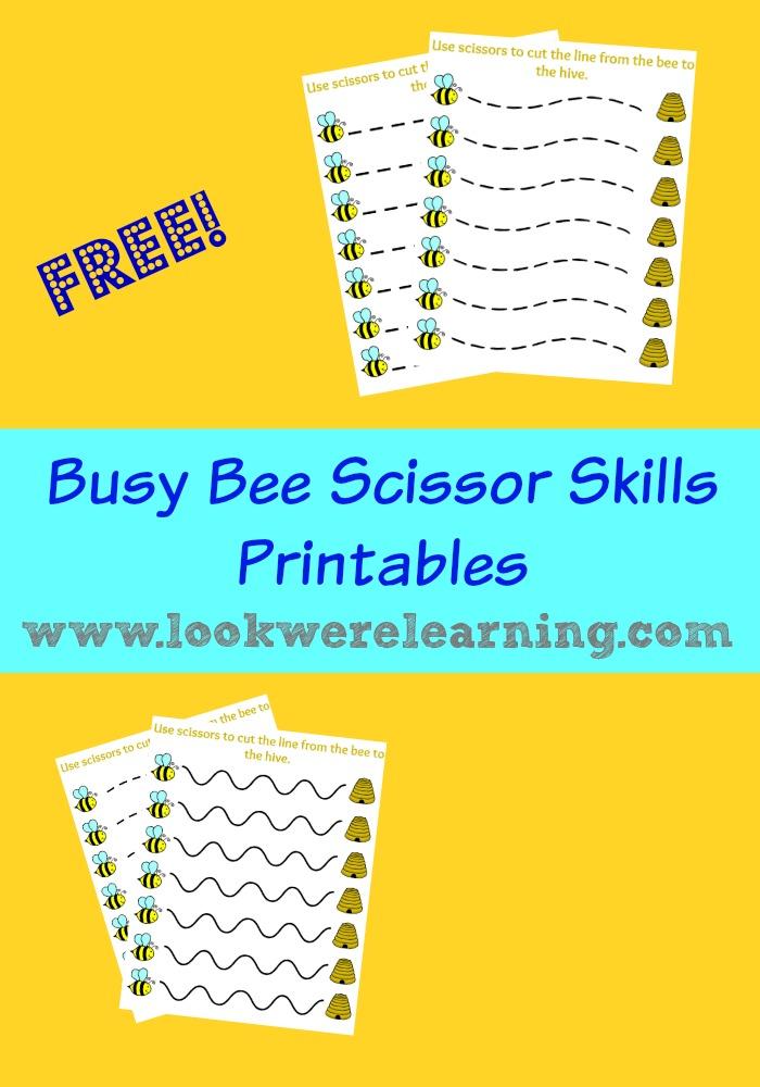 Busy Bee Scissor Skill Printables