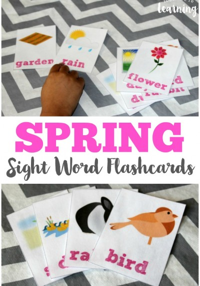 Help your early readers bud this year with these printable spring sight word flashcards!