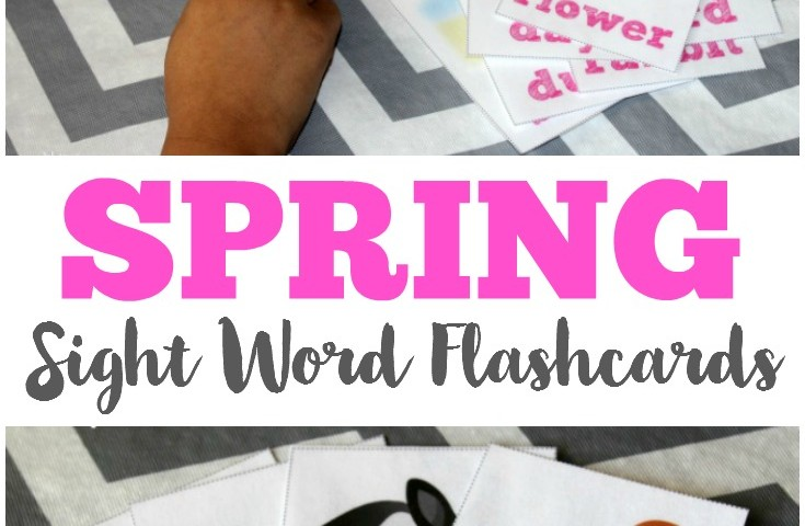 Free Printable Flashcards: Free Spring Sight Words Flashcards