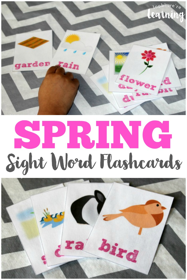 free printable flashcards free spring sight words flashcards