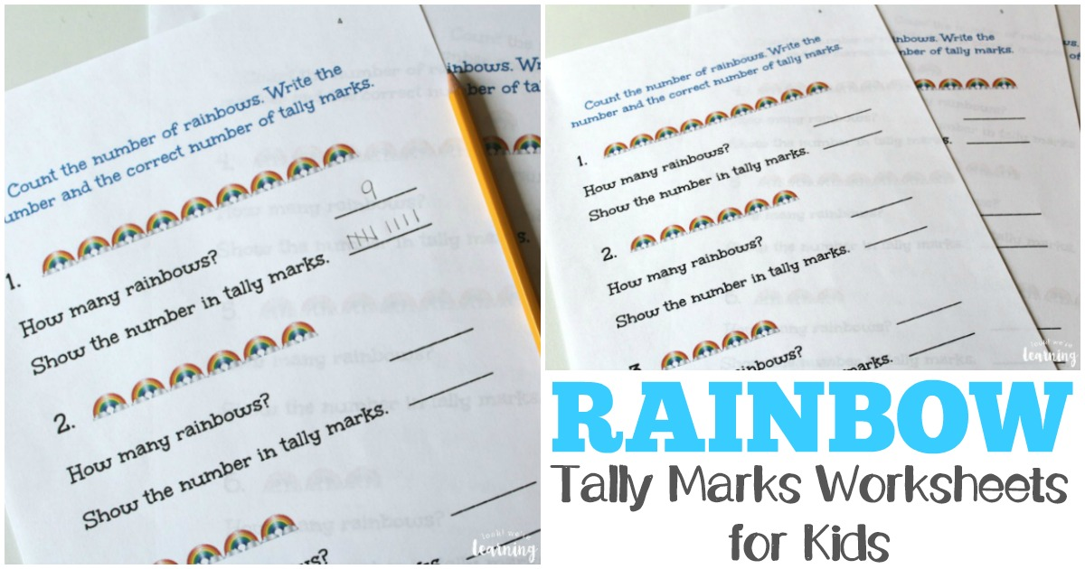 Printable Worksheets tally mark worksheets for first grade Free Rainbow Tally Marks Worksheets - Look! We're Learning!