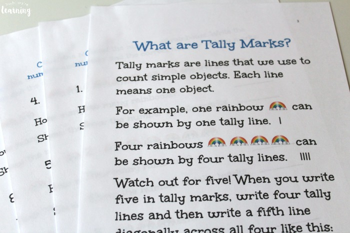 Printable Rainbow Tally Marks Worksheets
